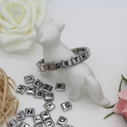 Bracelet italien prénom brillant